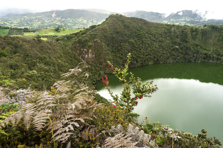 Natural Landscapes of Lagoon of Guatavita in Sesquilé, Cundinamarca – Colombia.
